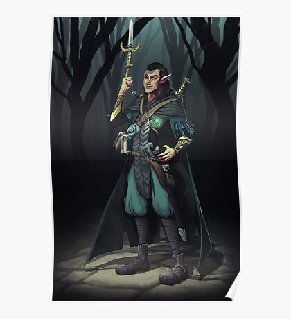 Elven Mage Thief Poster