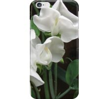 Fresh and Pure - Raindrops on Sweet Peas iPhone Case/Skin