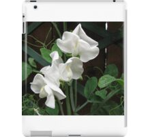 Fresh and Pure - Raindrops on Sweet Peas iPad Case/Skin