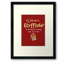 Welcome to Gryffindor! Framed Print