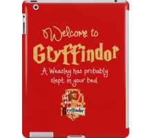 Welcome to Gryffindor! iPad Case/Skin