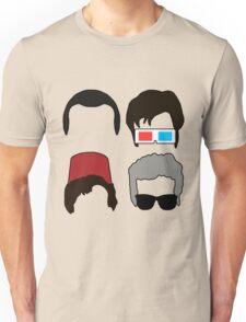 Doctor Who - Four Doctors Faces  Unisex T-Shirt