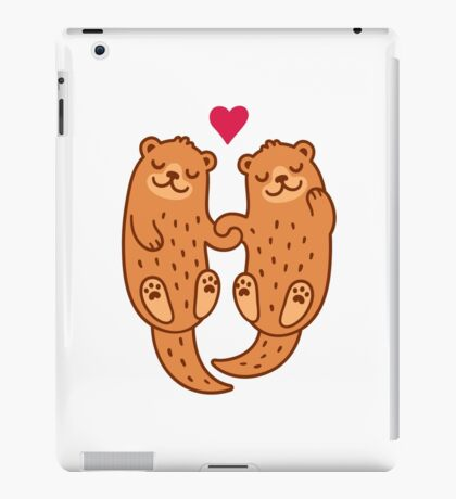 Otterly adorable iPad Case/Skin
