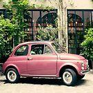 Purple Vintage Parisian car by Caroline Mint
