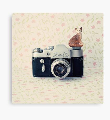 Camera Kitty Canvas Print