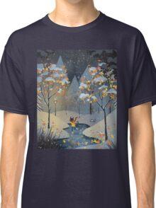 Ice Skating Cat Classic T-Shirt