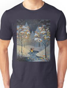 Ice Skating Cat Unisex T-Shirt