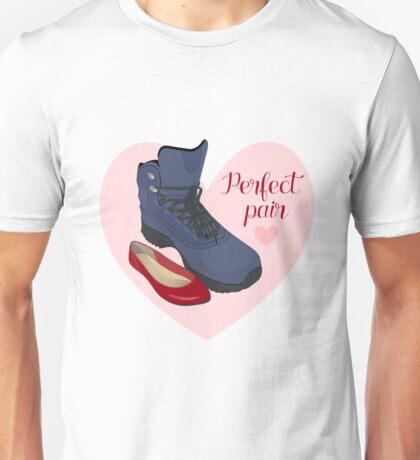 The perfect pair - male and female shoes.  Unisex T-Shirt