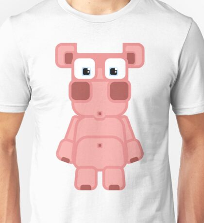 Super cute cartoon pink pig - bring home the bacon with everything for the pig enthusiasts! Unisex T-Shirt