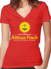 ATTICUS FINCH LAW Women's Fitted V-Neck T-Shirt