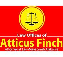 ATTICUS FINCH LAW Photographic Print