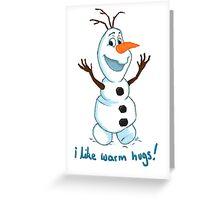 Hi Im Olaf Greeting Card