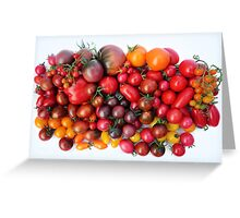 Tomatoes Are Red Greeting Card
