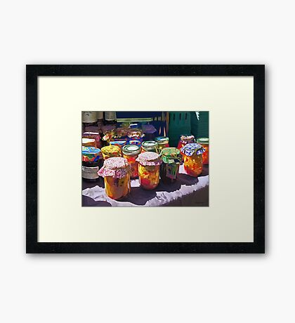 Pickles and Jellies Framed Print