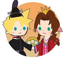 Cloud and Aerith by Aiysle