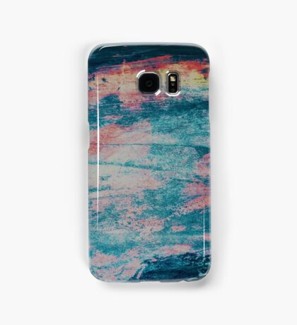Faded Blue and Pink Paint Samsung Galaxy Case/Skin