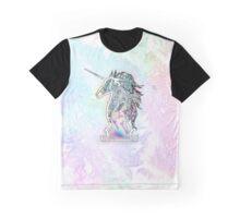 Zen Doodle Neon Unicorn Graphic T-Shirt