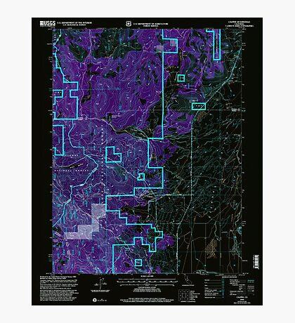 USGS TOPO Map California CA Calpine 100607 2000 24000 geo Inverted Photographic Print