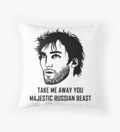 Take Me Away You Majestic Russian Beast Throw Pillow