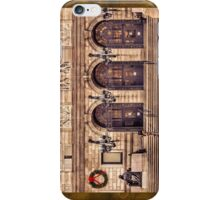 Christmas night at Boston Public Library iPhone Case/Skin