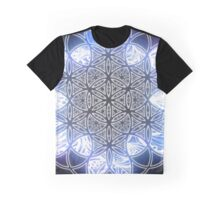 Sacred Geometry Flower of Life Ice Glow Graphic T-Shirt
