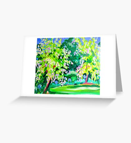 Garden at Somersby Greeting Card