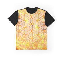 Sacred Geometry Flower of Life Sun Glow Graphic T-Shirt