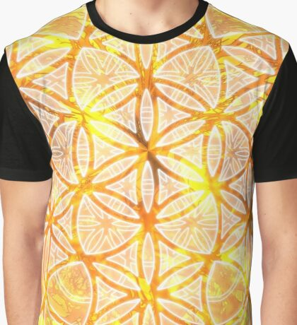 Sacred Geometry Flower of Life Sun Glow Graphic T-Shirt