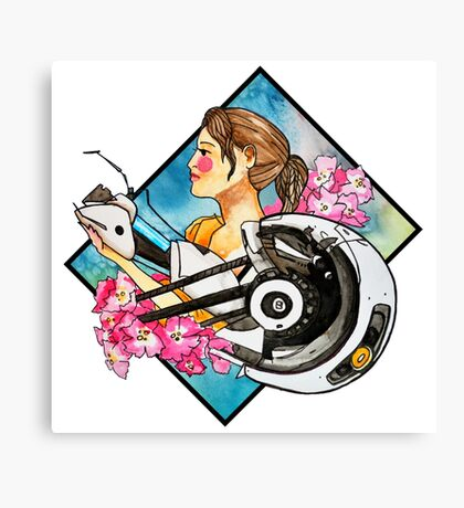 Chell & GLaDOS Canvas Print