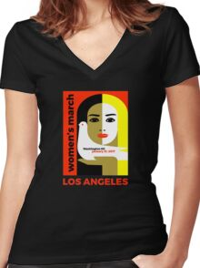 Women's March on Washington 2017, Los Angeles Women's Fitted V-Neck T-Shirt