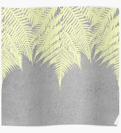 Concrete Fern Yellow Poster