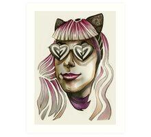 Pink Hair, Don't Care. Art Print