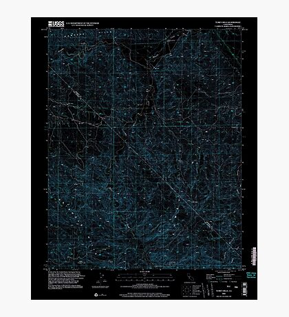 USGS TOPO Map California CA Tumey Hills 295542 2000 24000 geo Inverted Photographic Print