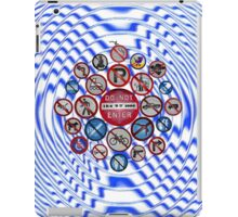 Polka Dot NO Signs iPad Case/Skin