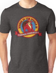 Where in the World is Carmen Sandiego? Unisex T-Shirt