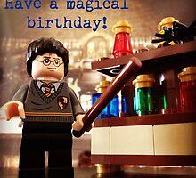 Lego Harry Potter birthday card by Hyperbolego