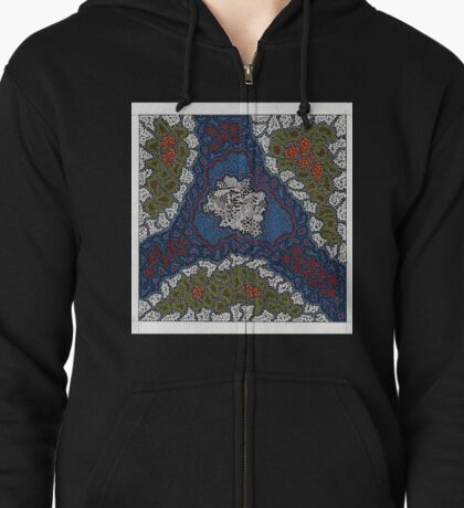 The Untitled Block Work #4 Zipped Hoodie