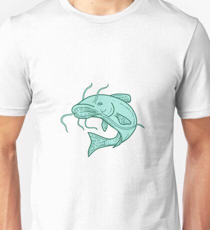 Catfish Mud Cat Jumping Mono Line Unisex T-Shirt