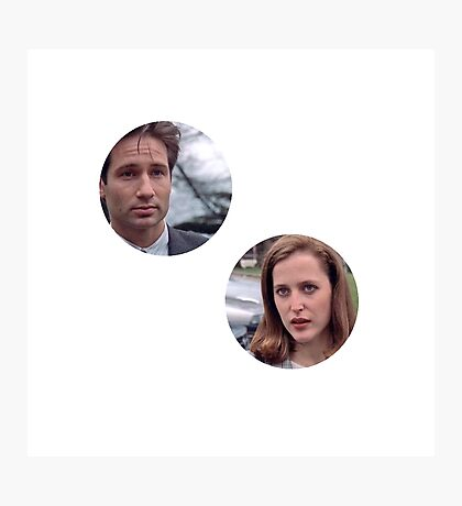 pilot mulder and scully!!! Photographic Print
