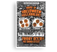 House of Halloween Hullabaloo Canvas Print