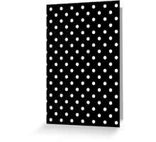 Polkadots Black and White Greeting Card