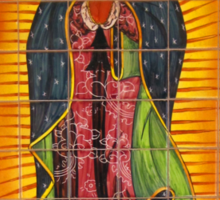Lady of Guadalupe mural Sticker