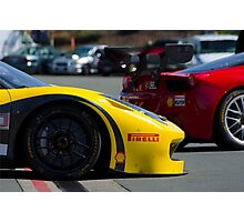 458 GT3 at Sonoma Raceway Photographic Print