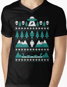 Paranormal Christmas Sweater Mens V-Neck T-Shirt