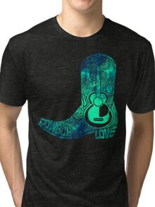 Cowboy Boot Tri-blend T-Shirt