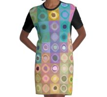 Shapes and color Graphic T-Shirt Dress