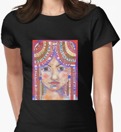 Colorful Manifesto for the Women's March on Washington Womens Fitted T-Shirt
