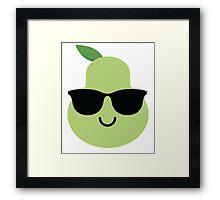 Pear Emoji Cool Sunglasses Framed Print