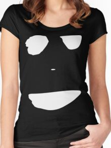 Bad Smile [White Ink] Women's Fitted Scoop T-Shirt