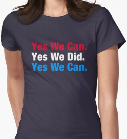 Yes We Can Womens Fitted T-Shirt